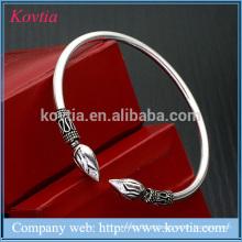 Alta moda 925 prata pura 7g pulseira esterlina seta jóias pulseira de prata de titânio