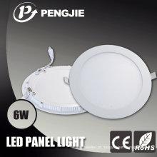 Bom alojamento da luz de painel do diodo emissor de luz do alumínio 6W da dissipação de calor
