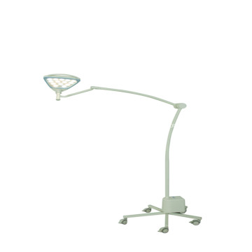 Portable medical exam light with battery