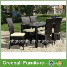 Ocio Patio al aire libre Rattan Mobiliario de jardín silla de mesa conjunto