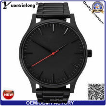 Yxl-935 Qualitäts-Rosen-Goldsilber-römische Ziffer-Geschäfts-Mann-Uhren Leder-Luxuxkalender-Quarz-Armbanduhr Relogio Masculino