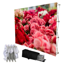 promotional foldable 8ft trade show conference stretch pop up display