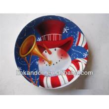 Snowman imprimible decalera placas de cerámica