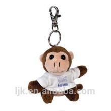 Kundengebundener Entwurf gefüllter Affe keychain