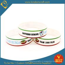Bracelet en silicone imprimé personnalisé Cmyk (LN-016)