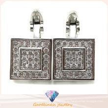 Elegante 925 Silber Manschettenknopf Silber Schmuck für Männer A11c002