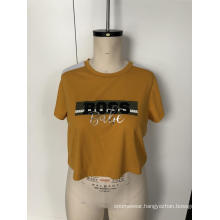 Yellow shoulder sport short sleeve