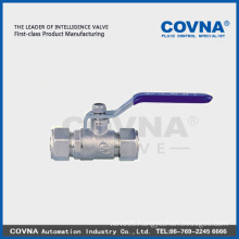 Lever handle female forged brass ball valve with aluminum plastics connector