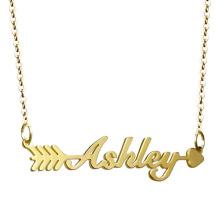Colar de nome de ouro de aço inoxidável personalizado