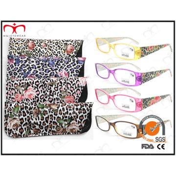 Lunettes de lecture en plastique de mode avec pochette (MRP21681)