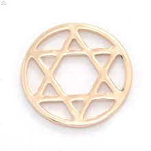 Cheap round rose gold alloy window floating antique glass charms memory locket star plates