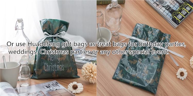 Drawstring Christmas Gift Bag