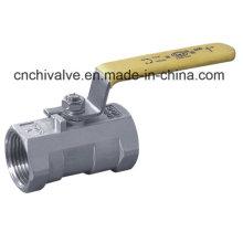 Válvula de esfera de aço inoxidável de uma peça (Q11)
