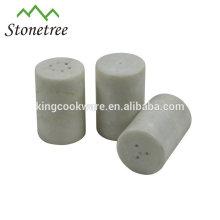 Ensemble sel et poivre en marbre naturel
