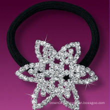 fashion metal silver plated crystal star hair band