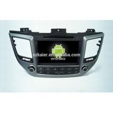 Quad core! DVD de coche con enlace de espejo / DVR / TPMS / OBD2 para pantalla táctil de 8 pulgadas Sistema de Android de cuatro núcleos Hyundai IX35 2015