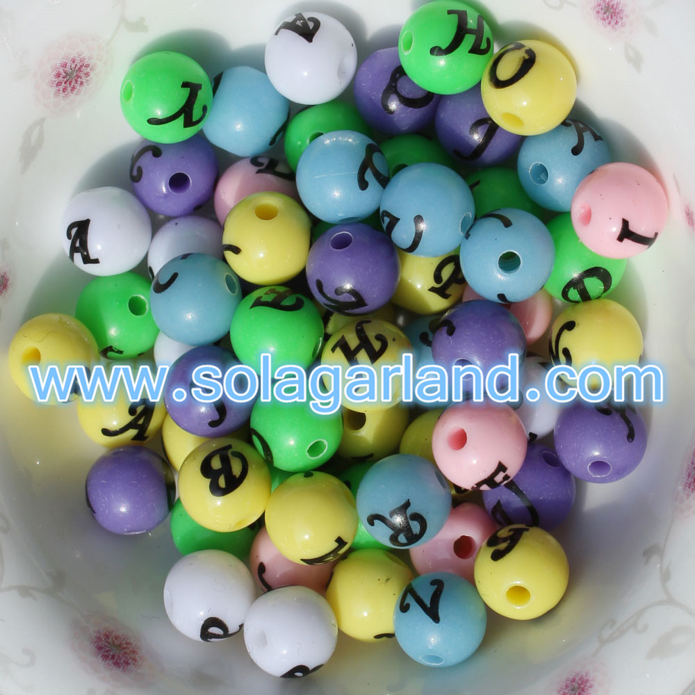 8MM Acrylic Round Spacer Beads