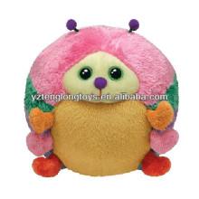 Colorful design sphere cute plush ladybug toy
