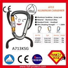Heißer Verkauf Schraubensicherung Aluminiumlegierung Karabiner Mit Ce Zertifikat