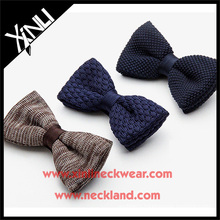 Mens New Fashion Knitted Wool Bow Tie