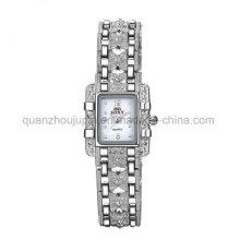 OEM моды Кристалл наручные металлические Кварцевые часы с металлическим браслетом
