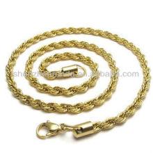 Vente en gros de taille en acier inoxydable pour bijoux en or plaqué or accessoires pour bijoux