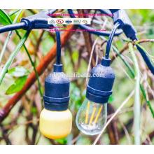 SLTT-1451 Steckdosenschnur Set USA Leuchtschnur Verlängerungskabel mit e26 Lampenschnur Set