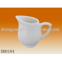Factory direct wholesale white ceramic milk jug