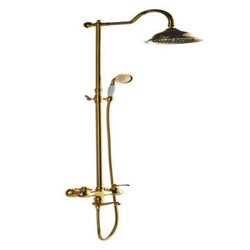 Bad-Niederschlag-Duschset mit goldener Farbe