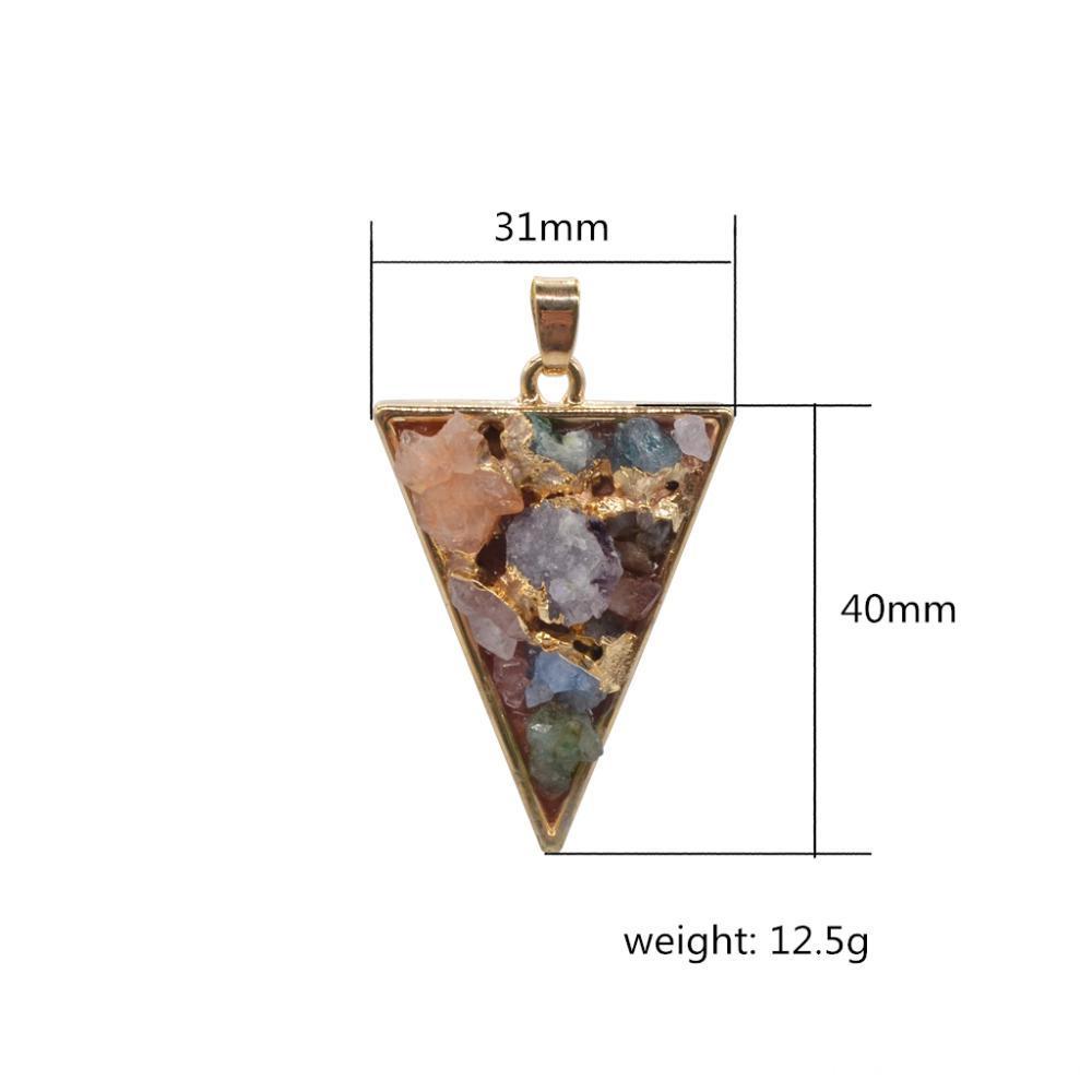 colourful crystal pendant