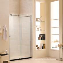 Tela de chuveiro de vidro temperado padrão australiano com porta deslizante (R2)