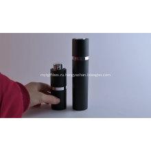 Косметическая упаковка спрей черный безвоздушный флакон с насосом