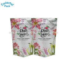 China preço de Fabricação de plástico colorido branco fosco 150g sacos para produtos em pó de embalagem