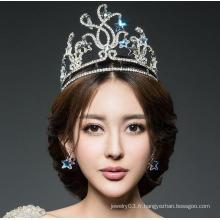 Beauty Princess Diamond Pageant Crown Hot Sale Tiaras de vrai diamant