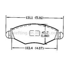 types of brake pads D1143 425212 for PEUGEOT CITROEN front brakes cost