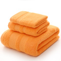 Solid Orange Color Handdoek Set Voor Badkamer