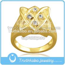 Tenedor de la ceniza de la joyería de la urna de la cremación del acero inoxidable 16L anillo de la cremación de Vermeil del oro 14k
