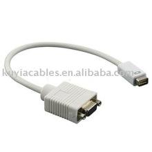OEM 15CM Mini DVI vers VGA Adaptateur Moniteur Câble vidéo