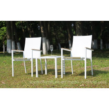 Chaise de table de jardin 1 + 2 Set Stacking Bistro Backyard Terrasse Hôtel Patio Mobilier moderne