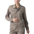Les femmes de travail d'OEM habillent l'uniforme de veste de vêtements de travail de coton
