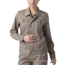 Uniforme do revestimento do Workwear do algodão da roupa de trabalho das mulheres do OEM