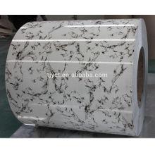 bobina / folha / placa prepagnted galvanized do aço de ppgi / embossed g350-g550, bobina de aço revestida cor / superfície gravada palte / sheet