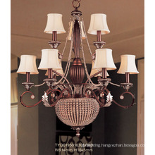 Hotel European Chandelier with Fabric Lampshade (TYD0195010301-6+3)