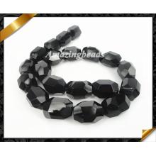 Натуральные ювелирные изделия, Бусины чёрного агата самородка, ювелирные изделия из бисера Onyx Loose (AG017)