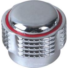 Punho de torneira em plástico ABS com acabamento cromado (JY-3007)