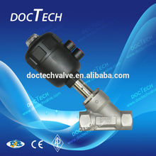 G1/2 Plastic Pneumatic Angle Seat Valve threaded,Plastic actuator,Temp. With Stainless Steel CF8/CF8M 2-Way Body