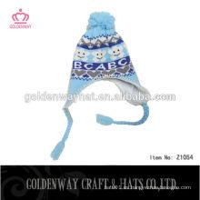 Ganchillo de punto bebé sombrero