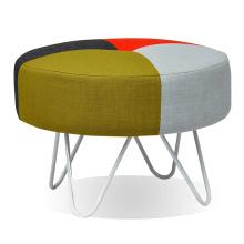 Home Design Móveis fezes de tecido com perna de metal