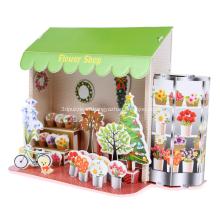 3D цветочные головоломки красивый магазин
