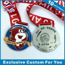 Color Enamel Cute Running Medal with Cartoon Calf for Souvenir Running Competition
